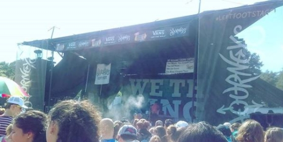Picture of Warped Tour stage for the band We The Kings.